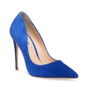 NIB Steve Madden Daisie Blue Suede Heels 10